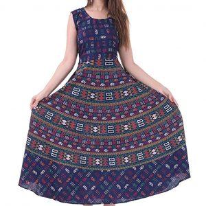 Print Long Midi Maxi Dress