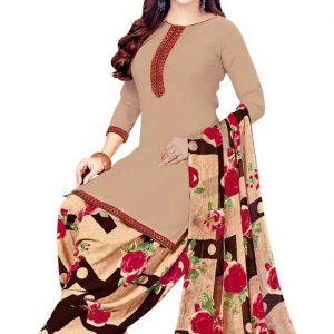 Saara Crepe Checkered Salwar Suit Material