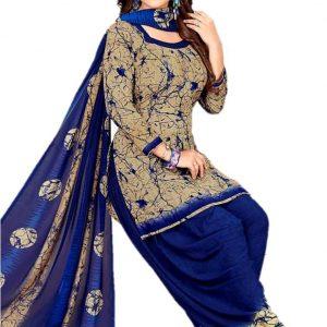 Design Willa Crepe Printed Salwar Suit Material
