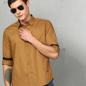 Men Solid Formal Spread Shirt